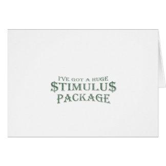 Paquete de estímulo enorme tarjeta de felicitación