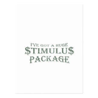 Paquete de estímulo enorme tarjeta postal