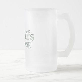 Paquete de estímulo enorme taza cristal mate