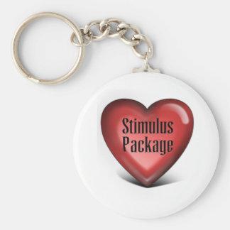 Paquete de estímulo simple llavero redondo tipo pin