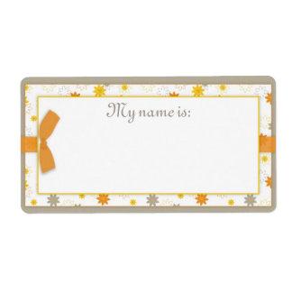 Paquete de etiqueta del nombre de la alegría etiqueta de envío