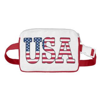 Paquete de Fanny de la bandera americana de los