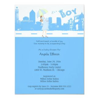 Paquete de invitación AZUL de la fiesta de
