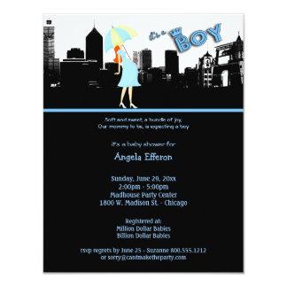 Paquete de la raya azul de invitación de la fiesta