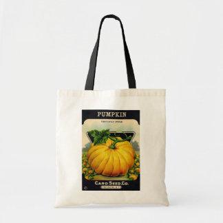 Paquete de la semilla de calabaza del vintage - bo bolsa tela barata