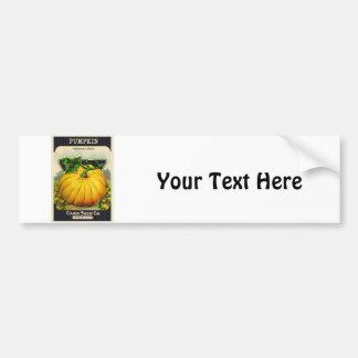 Paquete de la semilla de la calabaza de la tarjeta pegatina para auto