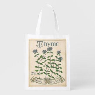 Paquete de la semilla de la hierba del vintage, bolsa reutilizable