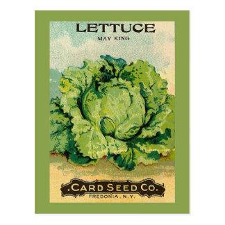 Paquete de la semilla de la lechuga tarjetas postales