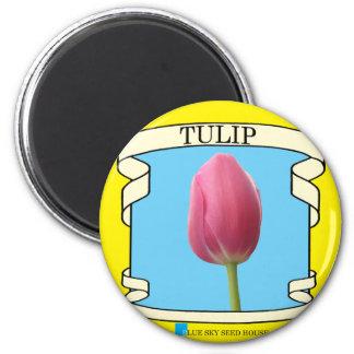 Paquete de la semilla del tulipán imán redondo 5 cm