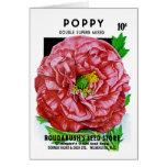 Paquete de la semilla del vintage de la amapola tarjetas