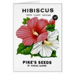 Paquete de la semilla del vintage del hibisco tarjeta de felicitación
