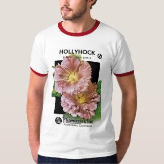 Paquete de la semilla del vintage del Hollyhock Playera