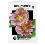 Paquete de la semilla del vintage del Hollyhock Tarjeta De Felicitación