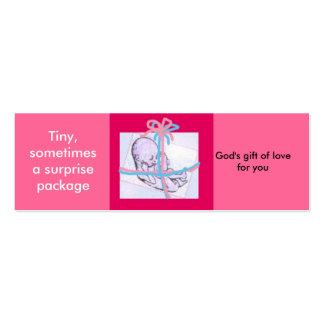 Paquete de la sorpresa - mensaje prolife tarjetas personales