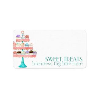 Paquete de negocio de la panadería de la hornada d etiquetas de dirección
