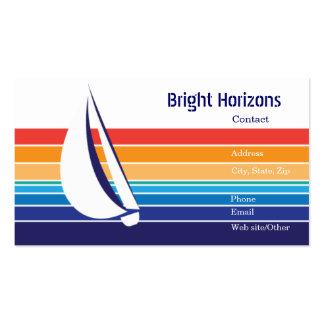 Paquete de Square_Office del color del barco Tarjeta De Visita