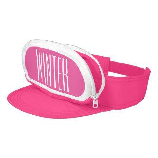 Paquete de trasero rosado del Casquillo-Saco para Visera