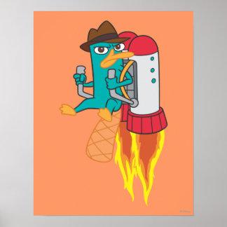 Paquete del agente P Rocket Póster