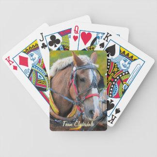 Paquete del diseñador del caballo de proyecto de baraja de cartas bicycle