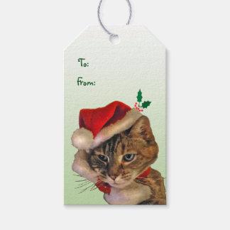 Paquete del gatito de Santa de etiquetas del Etiquetas Para Regalos