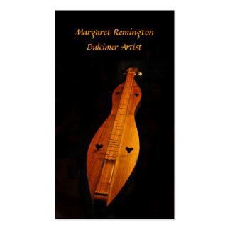Paquete del músico del Dulcimer de tarjetas de Tarjetas De Visita