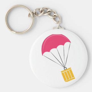 Paquete del paracaídas llavero redondo tipo chapa
