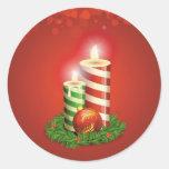 Paquete del pegatina de las velas del navidad de