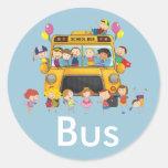 Paquete del pegatina del autobús escolar