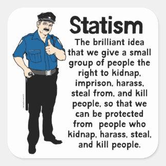 Paquete del pegatina del estatismo