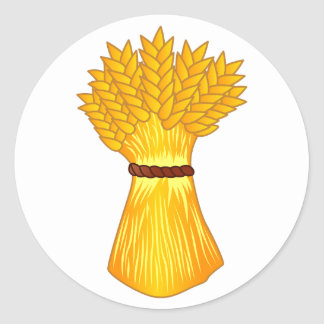 Paquete del trigo pegatina redonda
