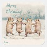 """Paquete divertido lindo """"de las Felices Navidad"""" Colcomanias Cuadradases"""