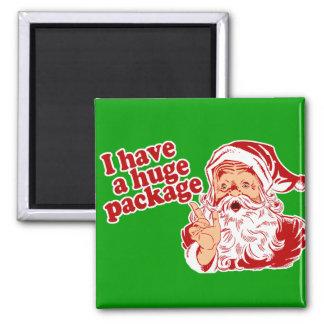 Paquete enorme de Santas Imán Cuadrado