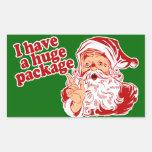 Paquete enorme de Santas Rectangular Pegatina