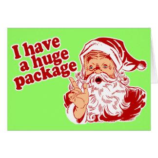 Paquete enorme de Santas Tarjeta