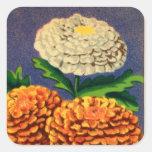 Paquete francés de la semilla de flor del pegatinas cuadradases personalizadas