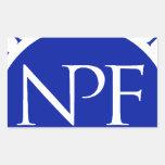 Paquete nacional del regalo de la fundación de la rectangular pegatinas