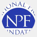 Paquete nacional del regalo de la fundación de la etiquetas redondas
