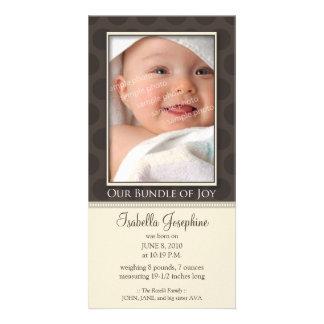 Paquete precioso de invitación del nacimiento de tarjeta con foto personalizada