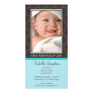 Paquete precioso de invitación del nacimiento de tarjeta fotografica