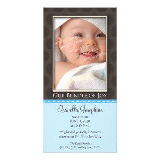 Paquete precioso de invitación del nacimiento de tarjeta fotográfica