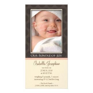 Paquete precioso de invitación del nacimiento de tarjeta fotografica personalizada