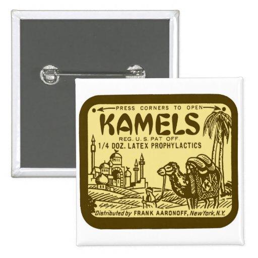 Paquete retro de los condones de Kamel del kitsch  Pins