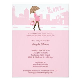 Paquete rosado de invitación de la fiesta de