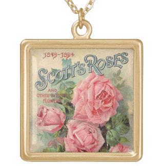 Paquete rosado de la semilla de los rosas del colgante cuadrado