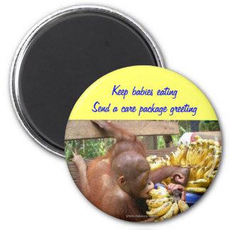 Paquetes de alimentos para los animales salvajes imán redondo 5 cm