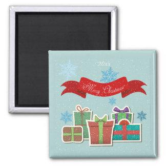 Paquetes del navidad con el imán de las Felices