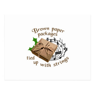 Paquetes del papel de Brown Tarjetas Postales