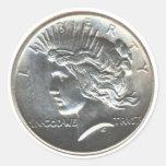 Paquetes del pegatina del dólar de la paz de la li