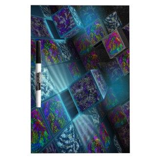 paquetes por completo de pulsos coloridos tablero blanco
