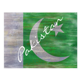 Paquistán apenó la bandera paquistaní tarjeta postal